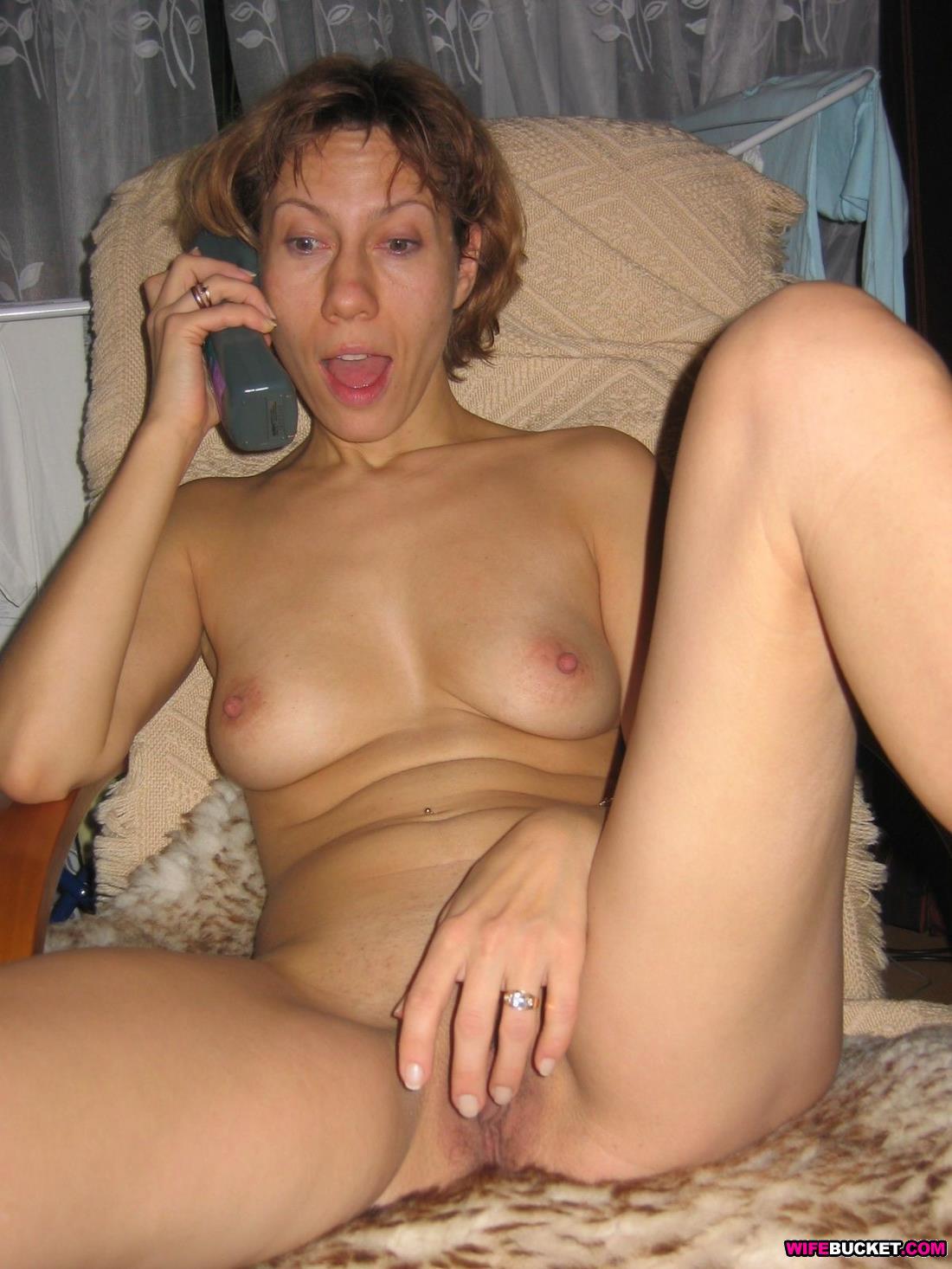 Drunk wife posing naked