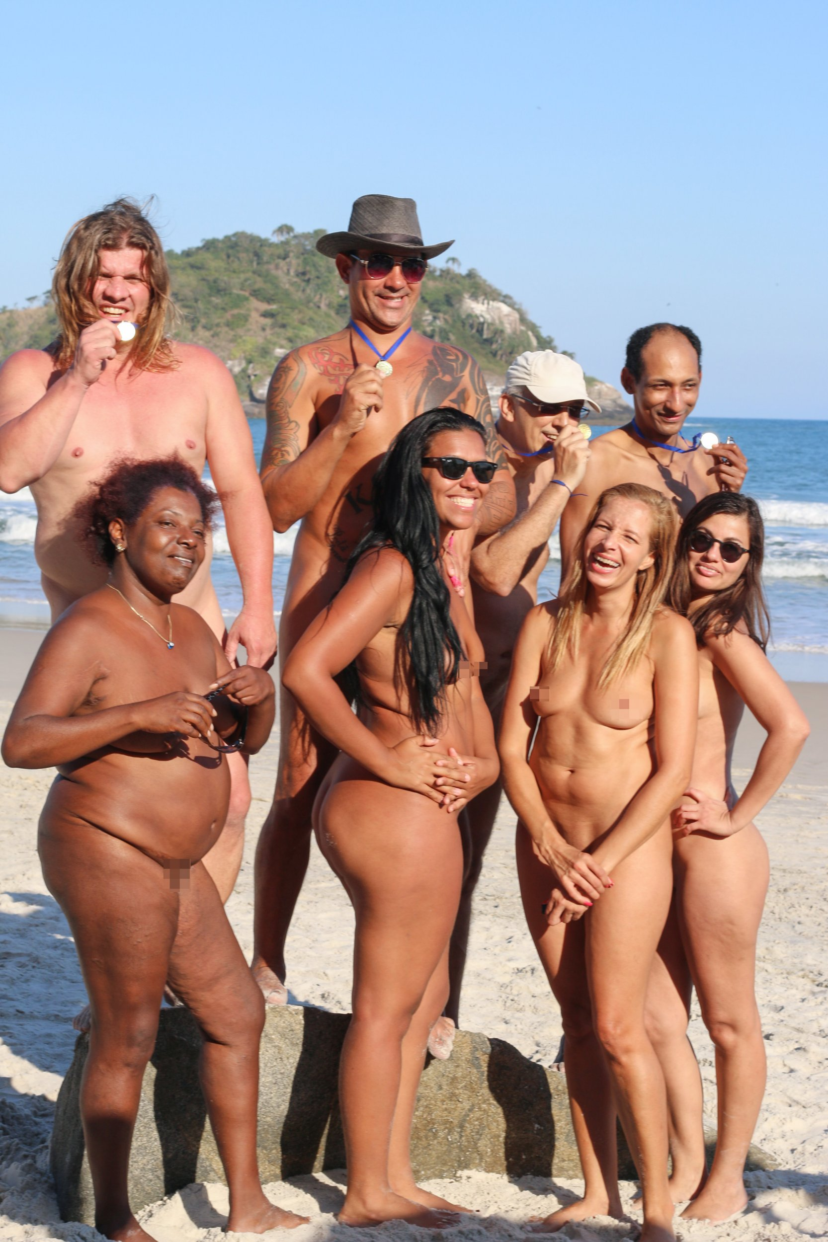 Nudist group naturist girls