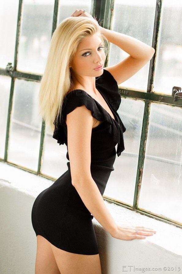 Hot blonde girls in short skirts
