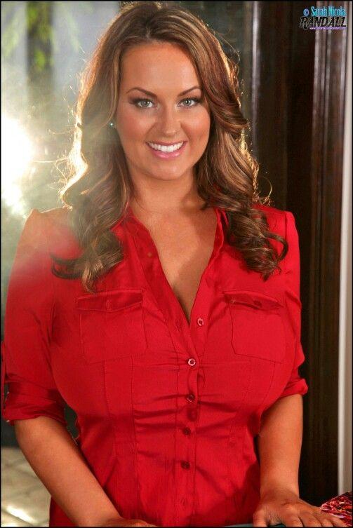 Sarah randall red button shirt
