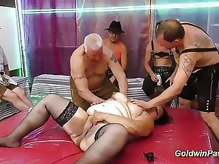 Plumpers fucked in gangbang