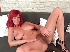 Milf redhead hairy pussy