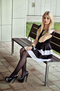Teen crossdresser dressed in nylon