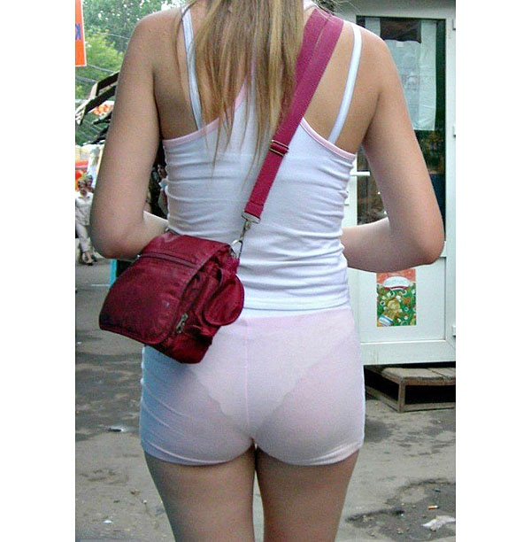 Sexy girls public panty lines