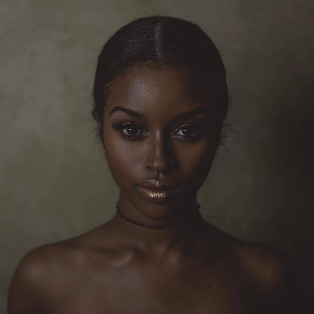 Beautiful dark skin black women