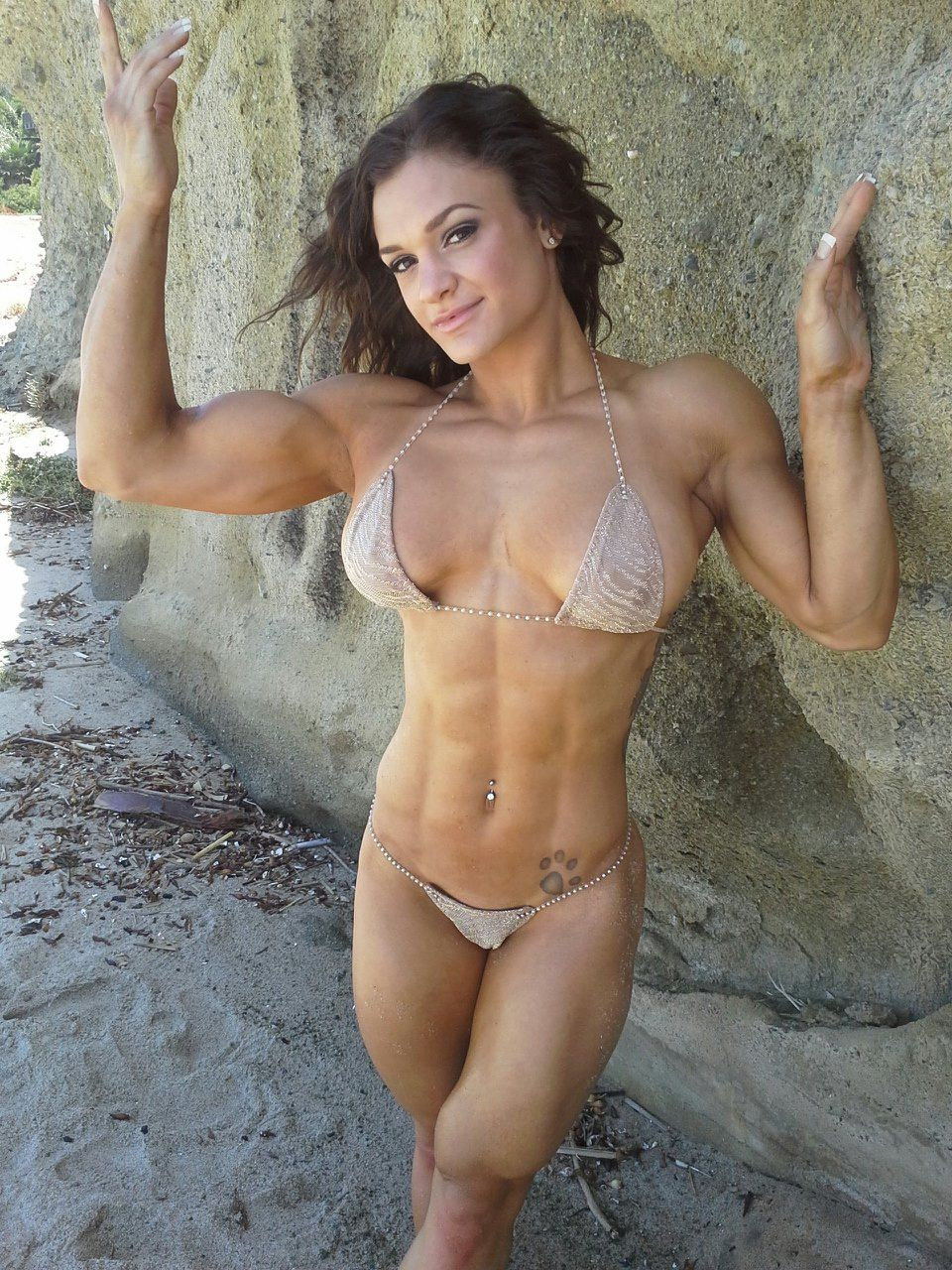 Hard body girl nude